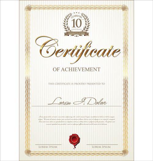 59 best DESIGN Certificate images on Pinterest Certificate - creative certificate designs
