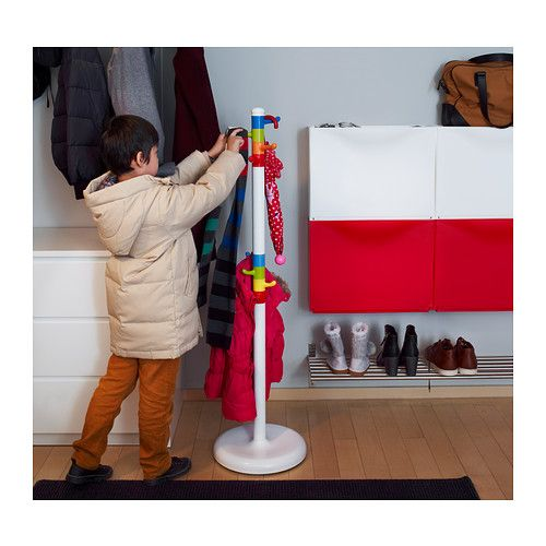 KROKIG Clothes stand IKEA The stand is a comfortable height for children and makes it easier for them to hang up their clothes by themselves...