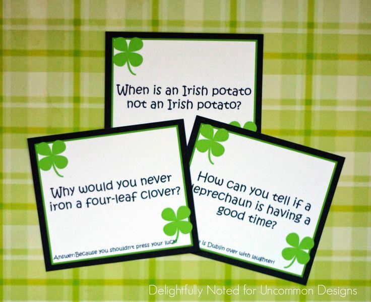 Printable St. Patricks Day Lunch Box Jokes -