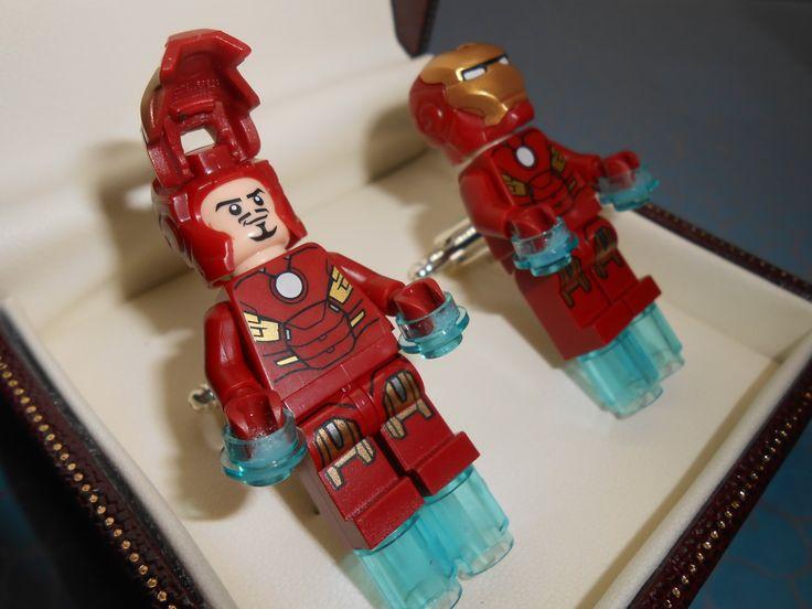 Hand Made LEGO Iron Man Cufflinks NOVELTY by CristinasQuirkyCraft, £25.32