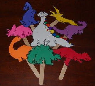 Dinosaurs - free printables. Could use these as puppets for children to create their own stories?