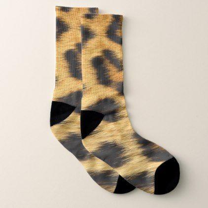 Leopard Skin Animal Print Socks - pattern sample design template diy cyo customize