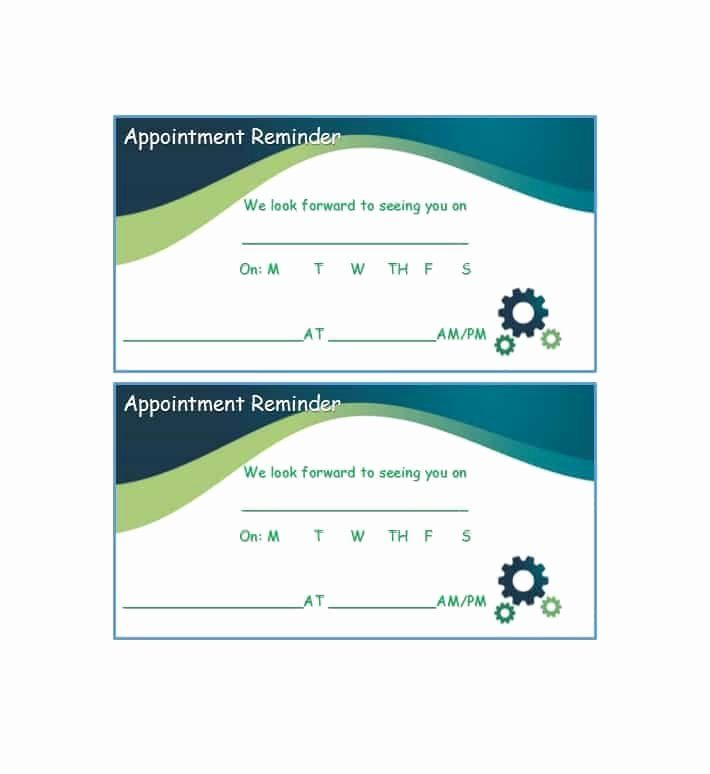 Free Printable Appointment Reminder Cards Beautiful 40 Appointment Cards Templates Appointment Re Card Templates Free Appointment Cards Medical Business Card