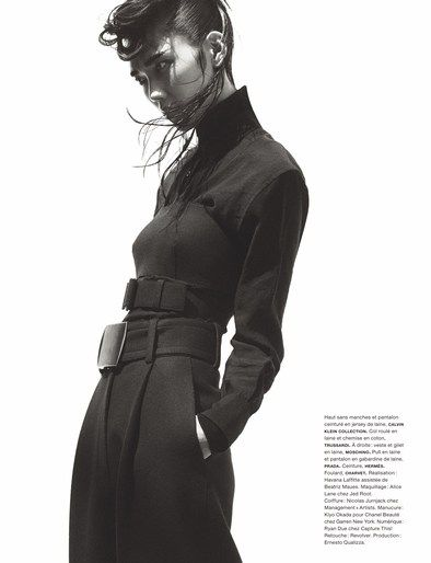 Nicolas Jurnjack styles Tao Okamoto's hair in 'La Garconne' for Numero, Oct 2013