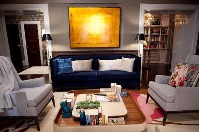 Carrie y Mr. Big en SEXO EN NUEVA NUEVA YORK 2.: Blue Velvet, Living Rooms, Blue Couch, Blue Sofas, Interiors Design, Carrie Bradshaw, The Cities, Memorial Tables, Big Apartment