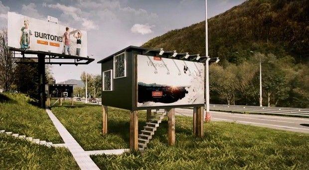 Arquiteto cria projeto que transforma outdoors em casas para abrigar moradores de rua (Foto: Divulgação) http://glo.bo/1BPMynN