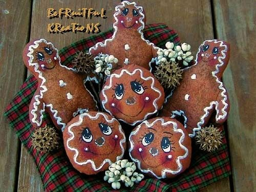 Grubby Gingerbread Bowl Fillers E Pattern