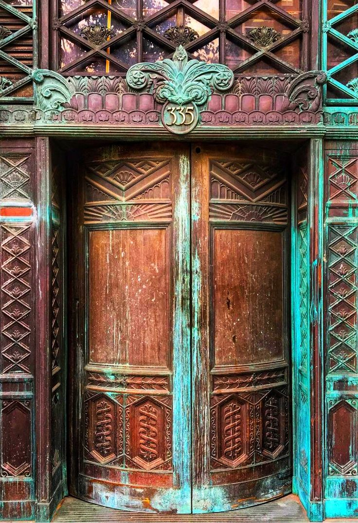 Tribeca, New York City,The door have been naturally weathered, although, it would be impossible to fake or replicate! New York