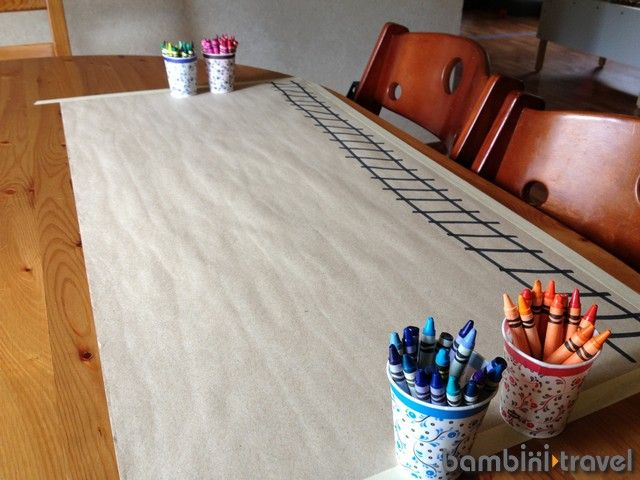 Drawing prompts (like these train tracks from bambini travel) are great conversation prompts too.