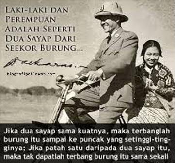 Soekarno bersama Fatmawati