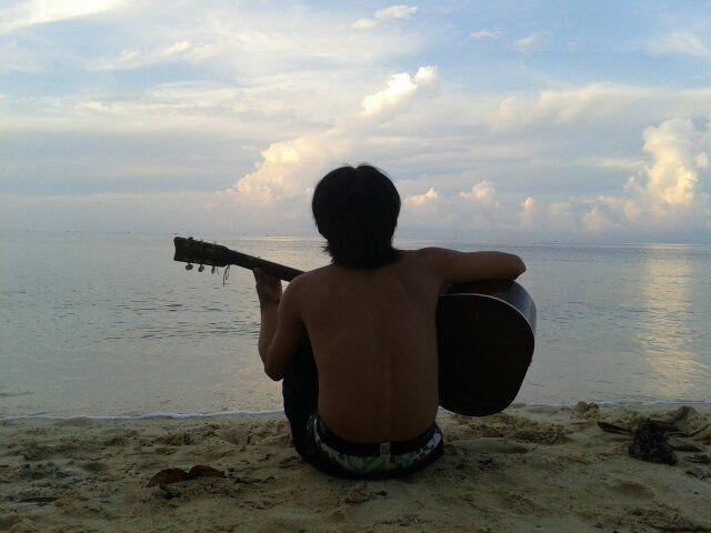 On the beach #MrJ :*