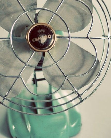 I want a cool old fan... the kind that can take a finger off...