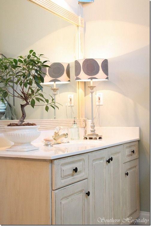 Molding Added To Bathroom Mirror As A Frame