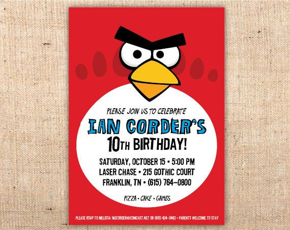 88 best images about Angry Bird party – Angry Birds Party Invitations