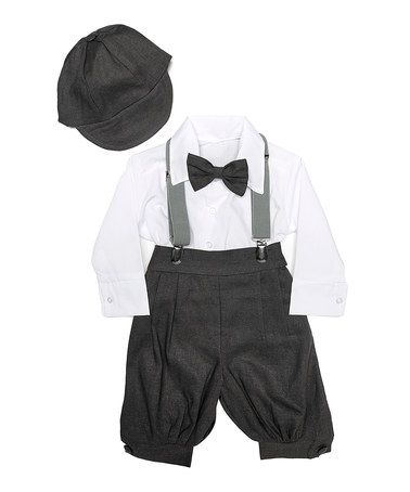 Love this Charcoal Classic Five-Piece Formal Wear Set - Infant by White Plum on #zulily! #zulilyfinds