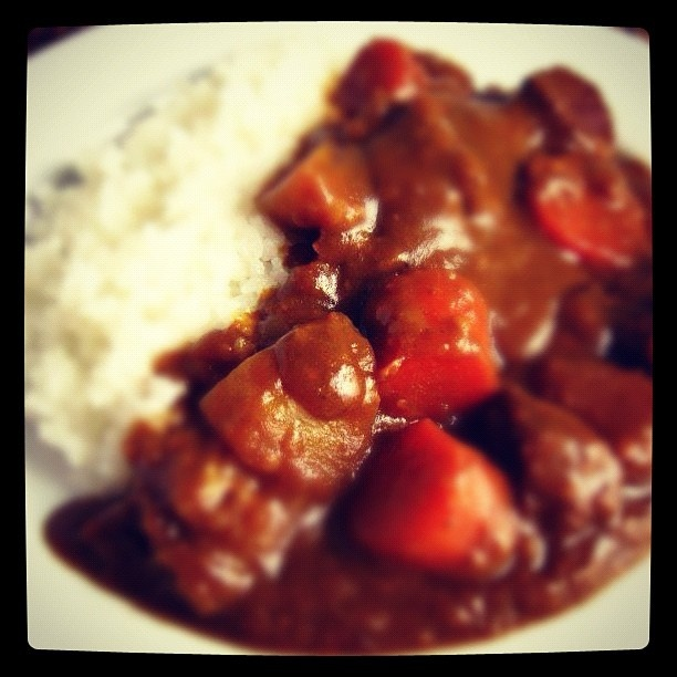 Japanese style curry Kare raisu