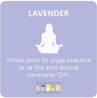 Incorporate #lavender essential oil into your #yoga practice. #aromatherapy