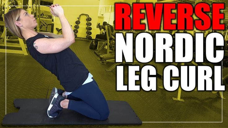 Exercise index nordic knee extension reverse nordic