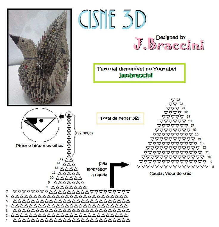 10 Best 3d Origami No Wing Kh Ng C Nh Images Free Rh Com 3D Steps Diagrams In English