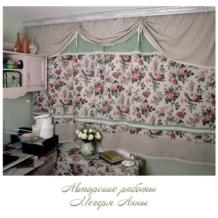 шторы лен, шторы льняные ткани, шторы английская роза