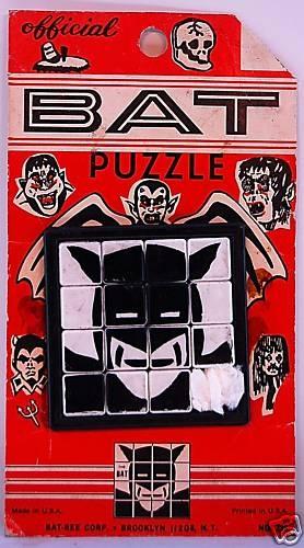 The Official Bat Slide Puzzle Unlicensed Batman '66 | eBay