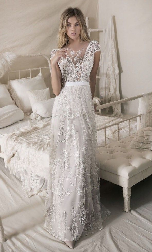 046d4c274f2 Our Favorite Lace Wedding Dresses with Fashion-Forward Design Details.  You ll fall head over heels for these stunning lace wedding dresses.