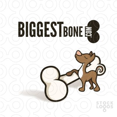"""The dog is ambivalent enough to be suitable for almost any business - for example a gaming studio, app developer, designer, pet shop, or marketing agency. And at the end of the day - don't we all want the """"Biggest Bone""""?"""