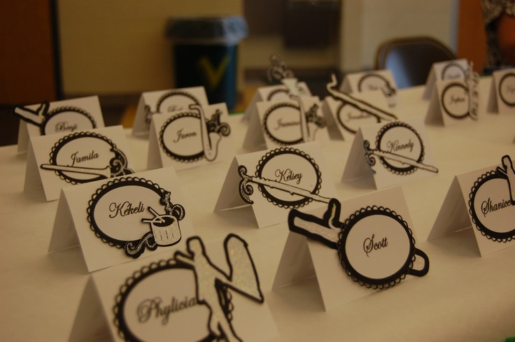 Scrappin Intervention Band Banquet Place Cards Band