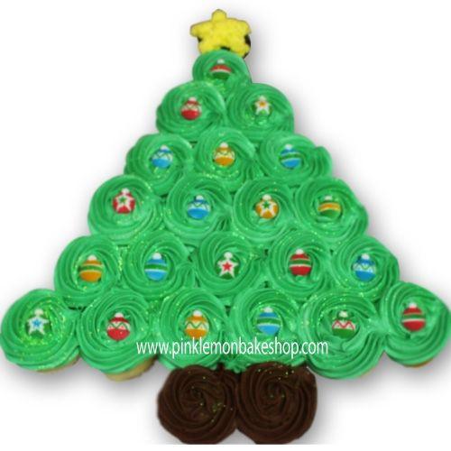 Pull Apart Cupcake Cakes | Season Cupcake Pull Apart Cake. Hand decorated Christmas Cupcakes ...