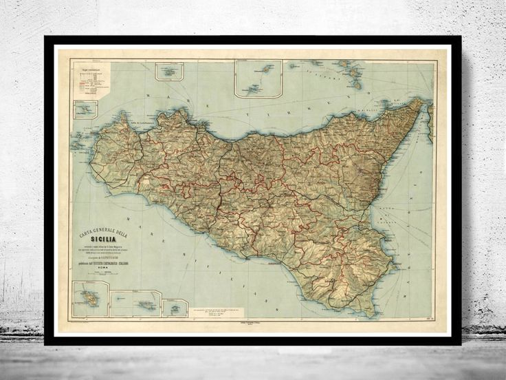 68 best maps images on pinterest antique maps maps and old maps old map of sicily sicilia italia 1891 this is a reproduction vintage highly detailed map the map has various dimensions the map is printed on sciox Gallery