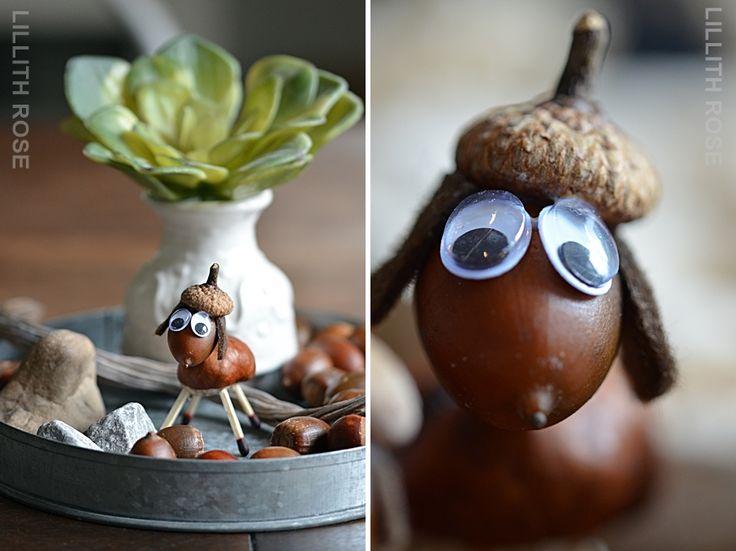 Lillith Rose: Herbst Basteln mit Kindern ! Schafe aus Kastanien und Eicheln - Autumn DIY with chestnuts and acorns - sheeps.