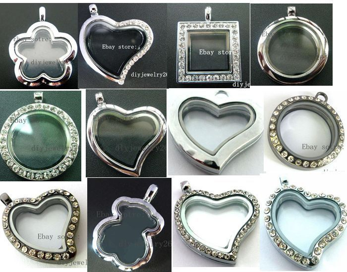mixed style 30mm Floating Memory living Glass Locket fit DIY floating charms  #Locket