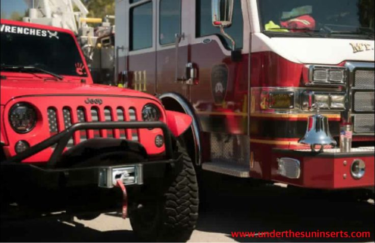 What do YOU stand for? Our wide selection of custom grille inserts makes it easy to stand for what you believe in! #Firefighters #Jeeplife