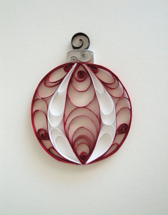 Quilled Paper Holiday Ornament