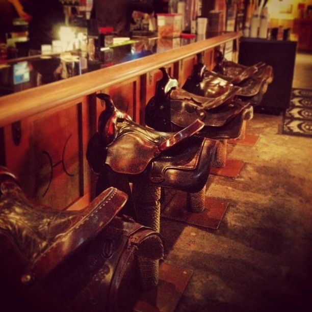 The Bar Stools Are Saddles Gilleys Lasvegas I Will Go If