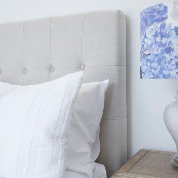Perfect linen bed head for a Hamptons bedroom #upholsteredbedhead #linenbedhead #gaudionfurniture