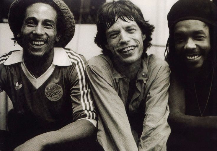 Love it. Reggae sandwich with a slice of rock 'n' roll.    a.k.a Bob Marley, Mick Jagger, and Peter Tosh.