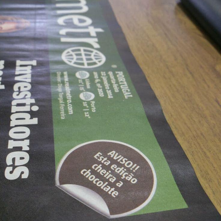 Jornal Metro cheira a chocolate!