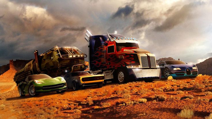 The Autobot cast of Transformers: Age of Extinction.