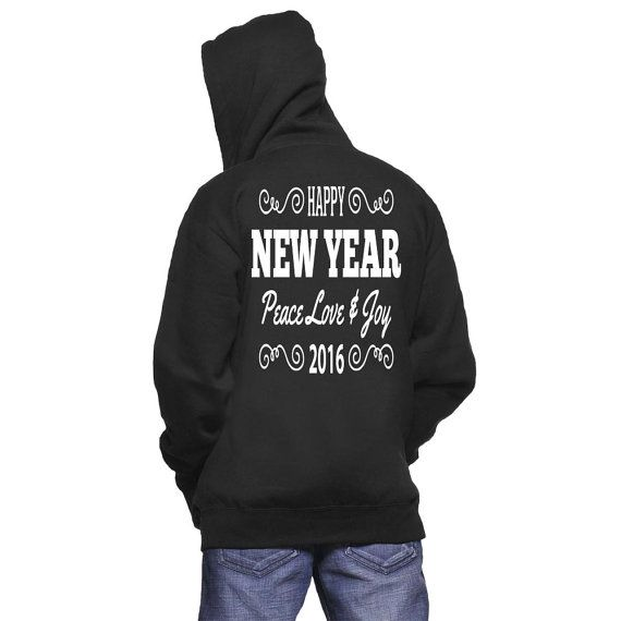 Happy New Year Hoodie by NavFifteen on Etsy