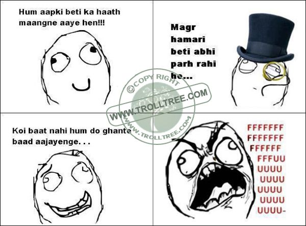 Share your Remark on the ‪#‎trolls‬, Hindi ‪#‎Jokes‬, ‪#‎Punjabi‬ Jokes, Funny ‪#‎pictures‬ & jokes, Spectacular Silly jokes. Get all updates of modern Hindi & Punjabi joke & other ‪#‎Humorous‬ troll only on ‪@ www.trolltree.com Funny ‪#‎Romantic‬ Troll : The ‪#‎Engagement‬ Of the ‪#‎Girl‬