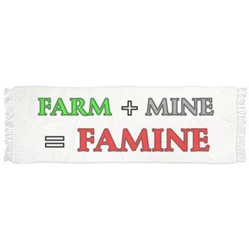 Farm plus Mine equals Famine Scarf by Terrella