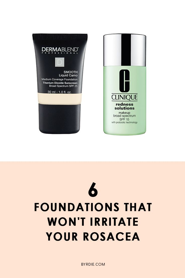 The best foundations for rosacea