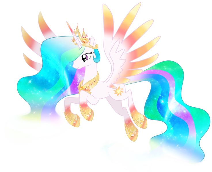 Princess Celestia Rainbowfied by Moonlightprincess002.deviantart.com on @deviantART