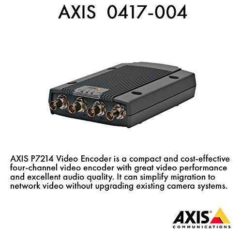 AXIS 0417-004 Four-channel video encoder. Dual streaming H.264 and Motion JPEG on all channels. Max D1 resolution at 30/25 (NTSC/PAL) fps on all strea >>> You can find out more details at the link of the image.