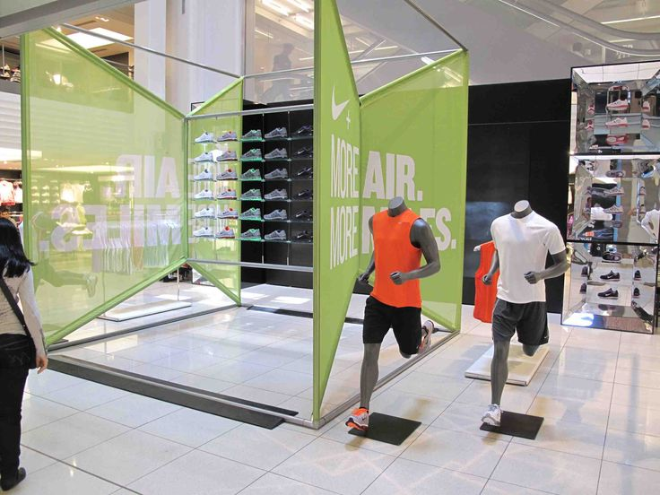 Environmental graphic backgrounds Nike AirMax, Niketown