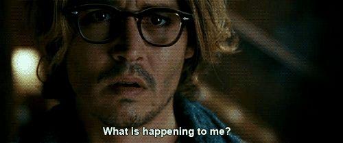 """johnny depp in """"Secret Window"""""""