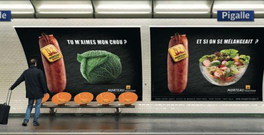 """Après """"Offrez-vous 20 cm de pur bonheur"""", la Morteau s'affiche dans le métro avec une nouvelle campagne choc """"tu m'aimes mon chou"""""""