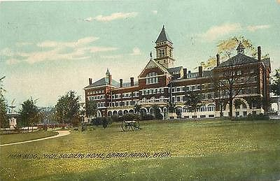 Grand Rapids Michigan MI 1908 Michigan Soldiers' Home Antique Vintage Postcard