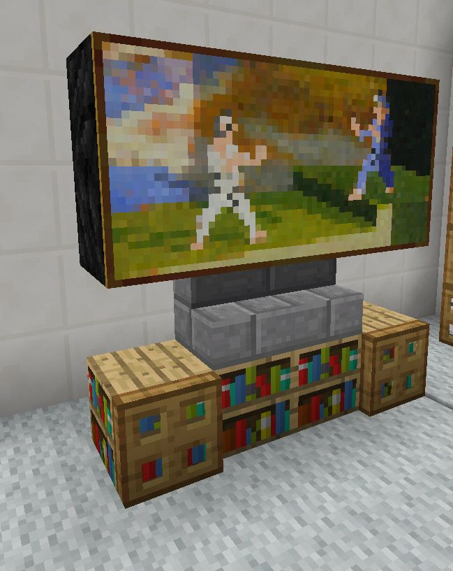 Minecraft TV Television Entertainment Center Furniture                                                                                                                                                                                 More